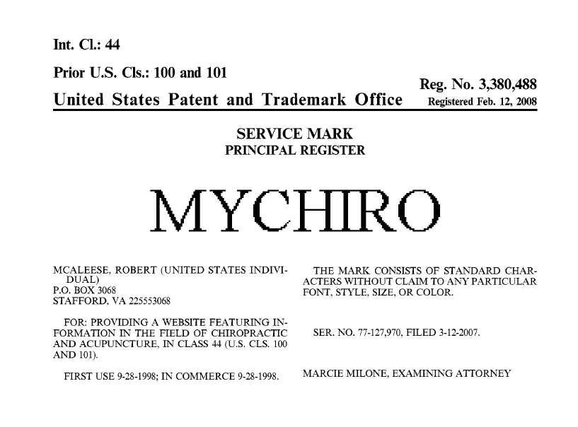 mychiro trademark